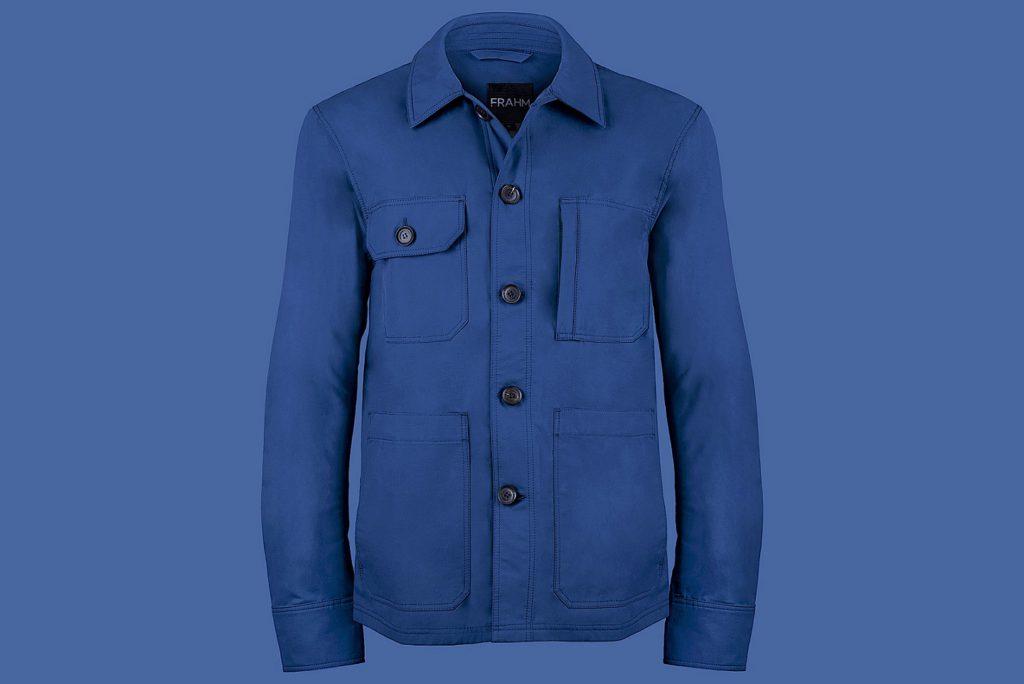 Blue jacket on a blue background