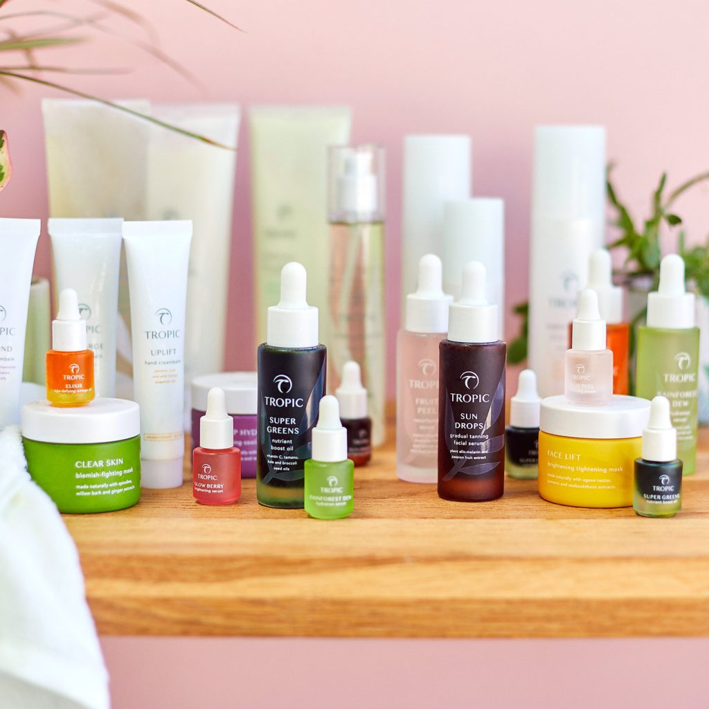 Tropic Skincare product range